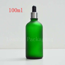 100mlX12 Frosted Green Dropper Glass Bottle,100cc Essential Oil/Perfume Packaging Bottle,Empty Cosmetic Container(Free Shipping)