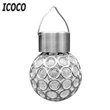 ICOCO Outdoor Waterproof Solar LED Garden Lamp Fence Villa Positive White/Color Light Lawn Stree Lamp Peacock Eye Hang Light New