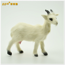 about 11x9cm white sheep Handmade model,polyethylene& furs goat home decoration toy Xmas gift w4012