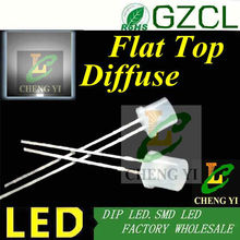(Alibaba supplier)High flux DIP LED White 5mm flat top led 6000-6500K diffused led diode 3.0-3.5V(China)