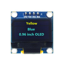 0.96 Inch 128X64 OLED Yellow Blue Display Module 0.96 IIC SPI Communicate for arduino DIY Kit(China)
