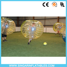 Free shipping 0.7mm TPU 1.2m diameter indoor soccer sports,bubble football,inflatable body bumper ball for kids