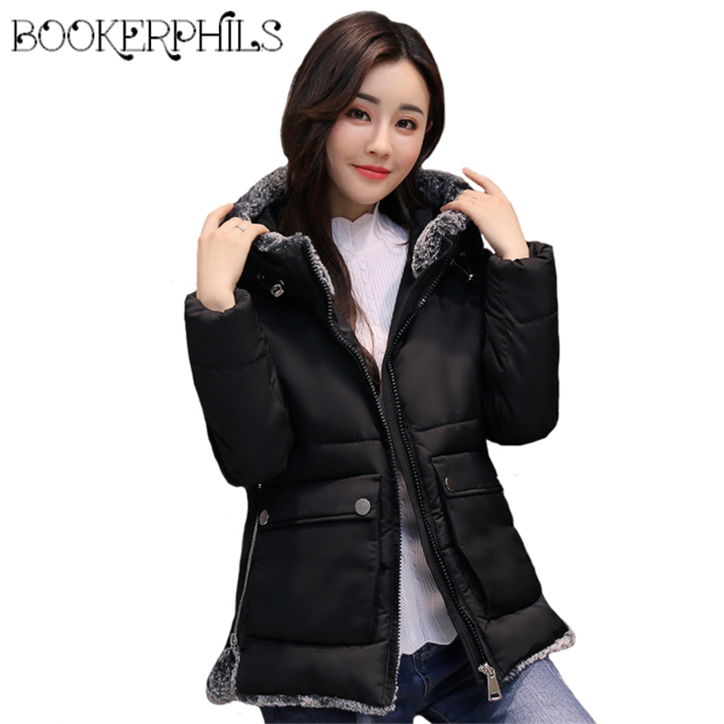 2017 Plus Size 5XL Stand Collar Winter Jacket Women Outwear Warm Fur Collar Solid Thick Autumn Cotton-padded Parkas Female CoatÎäåæäà è àêñåññóàðû<br><br>