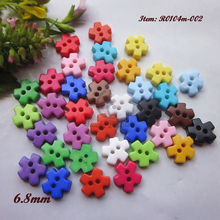 Mini buttons 144pcs 6.8mm one / mixed color snowflake shape tiny buttons for doll small buttons products for sewing and crafts(China)