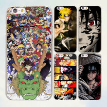 New Super anime cartoon Naruto one piece series hard clear Cover Case for Apple iPhone 7 6 6s Plus SE 4s 5 5s 5c phone case(China)