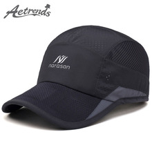 [AETRENDS] 2017 New Summer Baseball Cap Men or Women Mesh Caps Sunshade Travel Hats Z-5078
