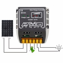 High Quality 1PCS 20A 12V/24V Solar Panel Charge Controller Battery Regulator Safe Protection