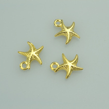 30pcs 16*14mm gold color starfish Alloy charms pendant fit necklace bracelet diy Pendants for jewelry making 4027A