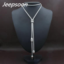 HOT Accessories Wholesale Long Stainless Steel Jewelry Fashion Silver Color Romantic Chain Necklace for women NEIACRBH(China)