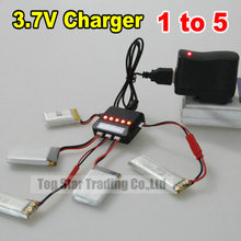 3.7V USB Fast Balance Charger 1 Divided Into 5 With Pilot Light Supports Many RC Helicopters Syma X5C WL V931 V911 MJX F47 U816