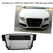 A5 ABS Black Painted Frame Mesh Grille Auto Grills For Audi A5 & S5 & RS5 Sedan / Coupe / Convertible 2009-2011(China)
