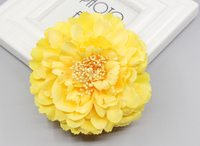 Free shipping! 4 colors multi color big sunflower Blooming Fabric Flower Brooch Hair Clip Boutique Hair Accessories(China)