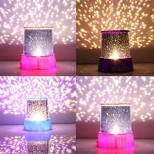 New Romantic Amazing Cosmos Moon Colorful Master Star Sky Universal Night Light Kid Chidren Projector lamp Gift Present(China)