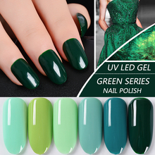 Free Shipping UV LED Gel Nail Polish Blue Mint Varnish Gift for Manicure Fans Jewelly Forest Grass Green Sky Lake Water
