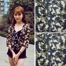 New Popular Polyester Camouflage Fabric Wide 150cm Beach Dress Chiffon Printed for Girls Long Gown clothing