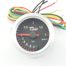 Buy 52mm car turbine pressure Detect 7 Color Blacklight Auto BOost gauge Turbo Meter -1~2 Bar free for $23.73 in AliExpress store