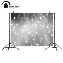 Allenjoy photography background Gray stars glitter bokeh backdrop Christmas theme Photo background studio camera fotografica