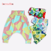 Spring Kids Clothing Girls Harem Pants Flower Children Boys Cotton Trousers Baby Pants(China (Mainland))