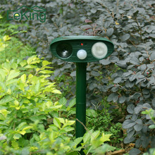 Solar Powered Infrared Burst Flash Ultrasonic Signals Animal Rat Snake Dogs Cats Repeller Pest Control For Household Garden Use(China)