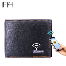 Advanced Intelligent Bluetooth Anti-Loss Unisex Real Leather Wallet cash purses business purse money clip multifunction wallet