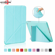 for ipad mini 1 2 3 case ,aiyopeen pu leather tpu back cover magnetic flip stand smart wake up sleep with free gift