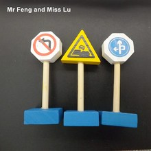 Traffic Sign Knowledge Game Toy Children Early Education Teaching Aids Model Kids Gifts(China)
