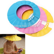 Adjustable 2.5mm Thick Soft EVA Baby Child Kids Toddler Bathroom Bath Shower Cap Wash Hair Shield Shampoo Hat Protect Eyes Ears