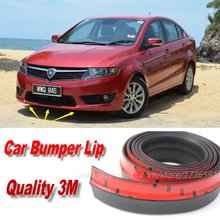 Car Bumper Lips For Proton Preve O3-21A 2012~2015 Front Lip Deflector Lips Skirt / Body Kit Strip / Body Chassis Side Protection