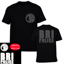 France Special Elite Police Forces T-shirt Unit GIGN Raid BRI T Shirt T Shirt Men Cotton Short Sleeve Reflective Design Tees Top
