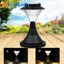 LumiParty 2017 New LED Solar Powered Light 16 LED Outdoor Garden Path Landscape Fence Yard LED Pillar Lamp(China)