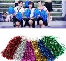 New Wedding Favors Flower Ball Pom Poms Shining Bling Bling Party Costume Supply Sports Cheerleader