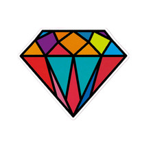 2pcs/lot Colorful Diamond Stickers Waterproof Home Decor Laptop Sticker Decal Fridge Skateboard Doodle DIY Sticker Toy