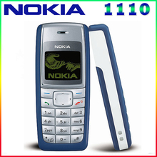 1110 Original Mobile Phone Nokia 1110 1110i Mobile Phone Unlocked cheap Old Mobile Classic Phone 1 Year Warranty free shipping(China)