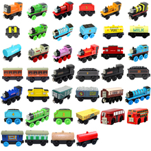 Wooden Railway Toys Magnetic Thomas Train Thomas And Friends Model Locomotives For Baby Children Kids(China)