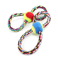 8 Shape Rope Chewing Puzzle Toy Dog And Puppy Dogs Big Animal W104 Retriever Dachshund Teeth Cleaning Green Red Pet Cat Products(China)