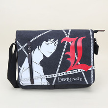 Anime Naruto Death Note Black Butler Shoulder Bag Canvas Student Crossbodybag Canvas Black Butler Messenger Bags(China)