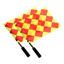 1Pcs The World Cup Soccer Referee Flag Sports Match Linesman Competition Equipment