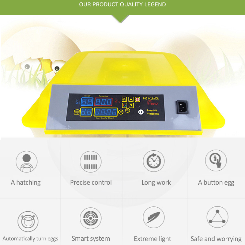 Automatic Egg Incubator China 96 Digital Clear Egg Turning Temperature Control Farm Hatchery Machine chicken egg Hatcher (10)