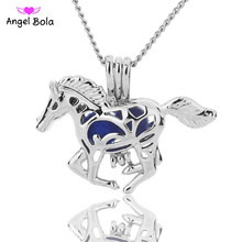 Angel Bola Jewelry Yoga Aromatherapy Essential Oils Surgical Perfume Diffuser Locket Necklace Drop Shipping L175