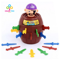 Novelty Kids Funny Jumps Gadgets Gags Games Lucky Pirate Swords Barrel Toys Jokes Tricky Toy Children Gift Family Party Game