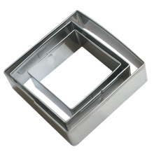 3Pcs/Set Plaque Cutter Cookies Frame Cake Oval Square Rectangle Fancy Stainless Mold