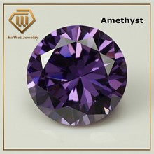 High Quality Biggest Size AAAAA 15mm-20mm Golden Amethystcolor Loose CZ Cubic Zirconia Beads Stone Synthetic Gemstone