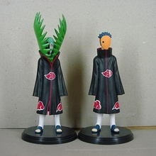 2pcs/set Anime Naruto PVC Figurine Akatsuki Uchiha Obito and Zetsu Action Figure Model Toys 16-19CM