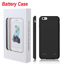 4.7inch 5.5inch Ultra Thin Phone Battery Case For Iphone 6 6s plus External Backup Battery Charger Cover Power Bank Case