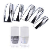 Misscheering Silver Mirror Nail Polish Base Coat Peel Off Metal Nail Varnish Metallic Manicure Nail Art Polish