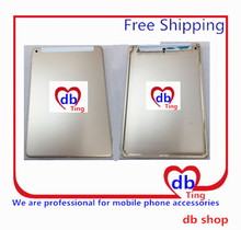 For Apple iPad 6 Air2 Air 2 A1567 4G 3G Version Battery Door Back Rear Housing Cover Case Replacement with logo Free Shipping