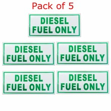 5pcs For DIESEL ONLY Weatherproof Waterproof Vinyl Decal Sticker Label Fuel Cap Gas Door Label 64*125mm