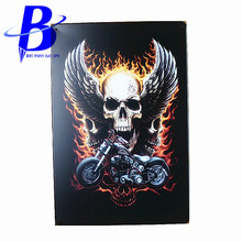 Vikings Neon Signs Ghost Rider Vintage Metal Tin Signs Retro Tin Plate Sign Wall Decoration for Cafe Bar and Restaurant Ajax Vw