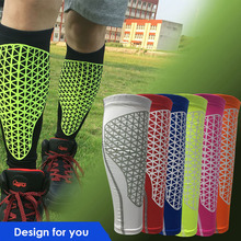 1PCS Basketball Football Leg Pads Shin Guards Soccer Protective Calf Sleeves Cycling Fitness calcetines Compresion Running