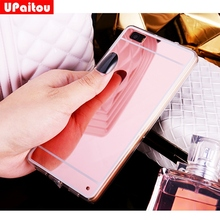 UPaitou Mirror TPU Case for Huawei P10 P8 P9 Lite Mate 9 8 GR5 2017 Y6 II Back Cover for Honor 6C 6X 5X 8 Pro /Nova/G9 Plus Case(China)